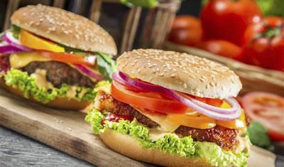 披萨汉堡三明治